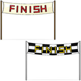 Finish line. Cartoon illustration of two different styles of finish lines Stock Image