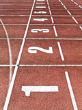 The finish line. Royalty Free Stock Images
