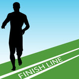 Finish Line. An image of a runner at the finish line Royalty Free Stock Photography