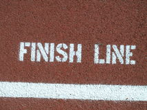 Finish line. Sign on the running track Royalty Free Stock Photography