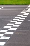 Finish Line. Karting Circuit Chessboard Start / Finish Line Stock Images