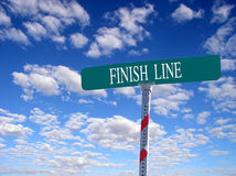 Finish Line. Sign that reads Finish Line Royalty Free Stock Images