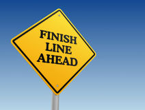 Finish line ahead road sign concept illustration Royalty Free Stock Image