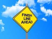 Free Finish Line Ahead Sign Royalty Free Stock Photos - 22007128