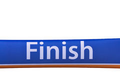 Finish line  banner isolated Stock Image
