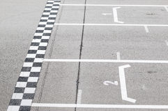 Finish line in the circuit royalty free stock photos
