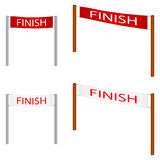 Finish line. Drawing representing finish line for illustration purpose, suggesting achieving, touching an ideal Stock Photography