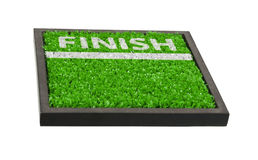 Finish Line on the Field Royalty Free Stock Photo