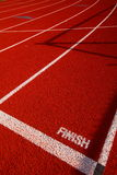 Finish line Finish line. Finish line of a running track Royalty Free Stock Image