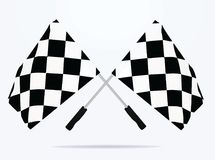 Finish line flags. Vector illustration Stock Photos