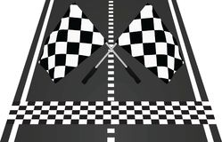 Finish line with flags. Vector illustration Stock Photos