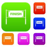 Finish line gates set collection. Finish line gates set icon in different colors isolated vector illustration. Premium collection Royalty Free Stock Images
