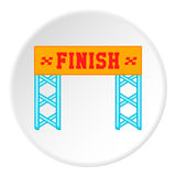 Finish line icon, cartoon style Stock Image