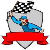 Finish Line Insignia. A vector illustration of a Finish Line Insignia Royalty Free Stock Photography