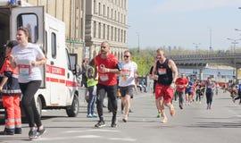 Finish line of the marathon Royalty Free Stock Images