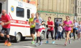 Finish line of the marathon Stock Image