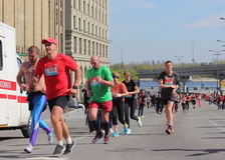 Finish line of the marathon Royalty Free Stock Photography