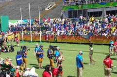 Finish line of marathon at Rio2016 Royalty Free Stock Photos