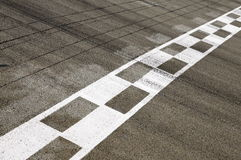 Finish Line of a Racetrack Stock Photos