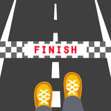 Finish line road sign Stock Image