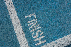 Finish Line on Running Track Royalty Free Stock Photography