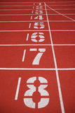 Finish line of running tracks Royalty Free Stock Images