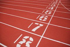 Finish line of running tracks Stock Photography