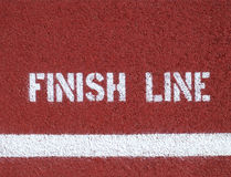 Finish line - sign Stock Photography