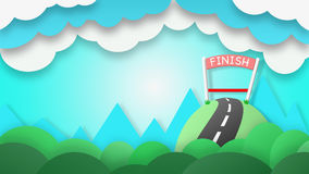 The finish line of success. It is for those who have tried only Royalty Free Stock Photo