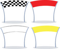 Finish lines. 4 different colors of a finish line. 3 with copy space Royalty Free Stock Image