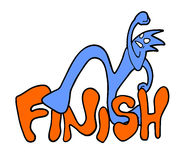 Finish message. Creative design of finish message Stock Images
