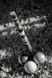 The Finish Pole in Croquet Stock Photo
