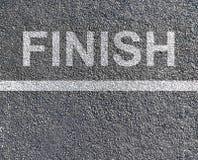 Finish race. Black asphalt texture, finish race concept Royalty Free Stock Photos