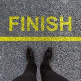 Finish race concept Stock Image