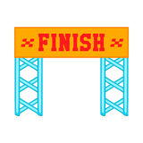 Finish race gate icon, cartoon style Royalty Free Stock Images
