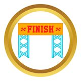 Finish race gate vector icon Royalty Free Stock Photography
