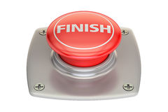 Finish red button, 3D. Rendering Stock Photography