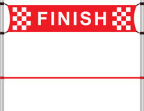 Finish. Red ribbon in finishing line Royalty Free Stock Image