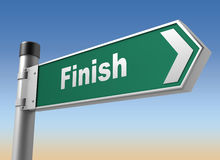 Finish road sign Royalty Free Stock Photography