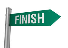 Finish road sign Stock Image
