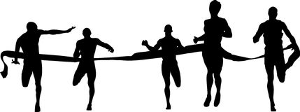 Finish runners. Sprint, sport, vector Royalty Free Stock Images