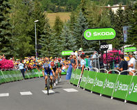 Finish of the Stage 17 in Serre Chevalier ,Tour de France 2017. Royalty Free Stock Image