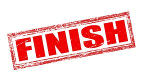 Finish. Stamp with word finish inside,  illustration Royalty Free Stock Photo