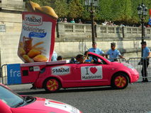 Finish of Tour de France. The finish of Tour de France on Champs-Elysee Stock Photography