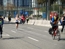 Finish of the Vancouver marathon Royalty Free Stock Photography