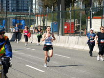 Finish of the Vancouver marathon Royalty Free Stock Photos