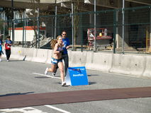 Finish of the Vancouver marathon Stock Photography
