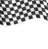 Finish wavy flag design. Black and white squares Stock Photo