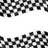 Finish wavy flag design. Black and white squares. Finish wavy flag vector design. Black and white abstract squares Stock Images