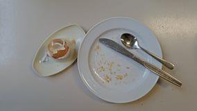 Finished breakfast Stock Image
